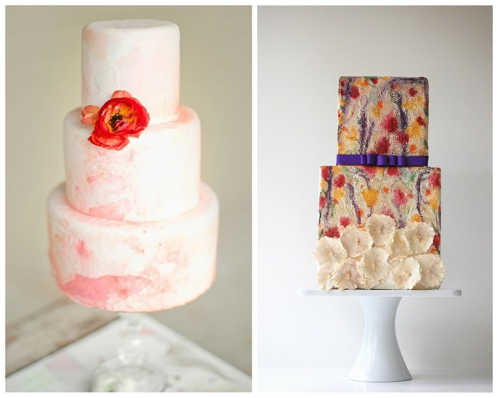 Свадебный торт с акварельной росписью. Рецепты и идеи 85
