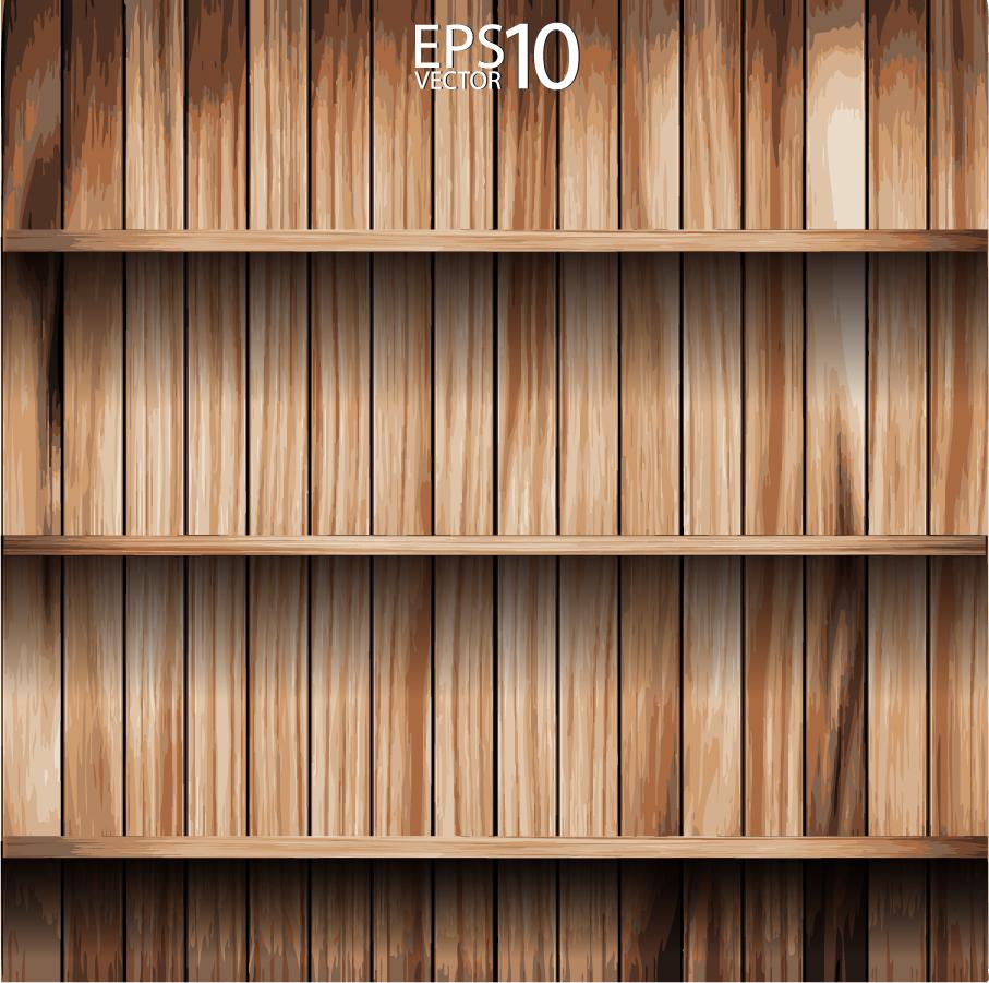 木製の棚 wood grain texture cabinets イラスト素材
