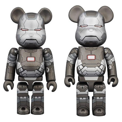 War Machine 100% & 400% Marvel's Iron Man 3 Be@rbrick Vinyl Figures by Medicom