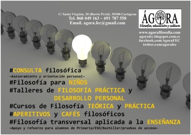 ÁGORA. Filosofía, educación y cultura.