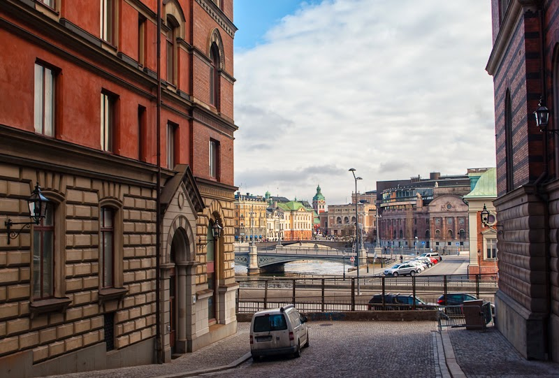 view of stockholm from gamla stan