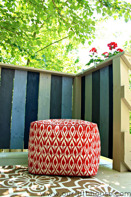 outdoor ottoman from target threshold line