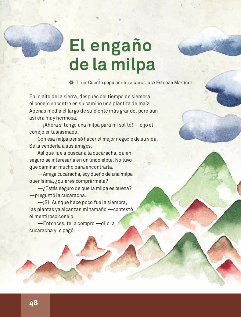 El engaño de la milpa - Español Lecturas 4to 2014-2015
