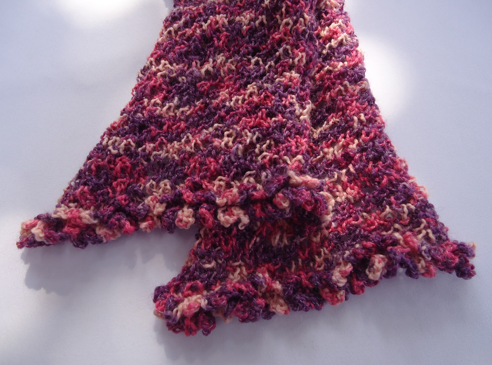 Knit Lace Stitch Scarf : Stitch of Love: Knitting Lace Scarf