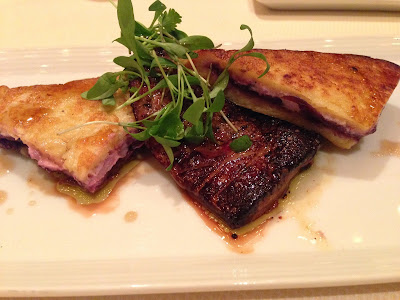 Foie Gras with Goat Cheese Stuffed French Toast