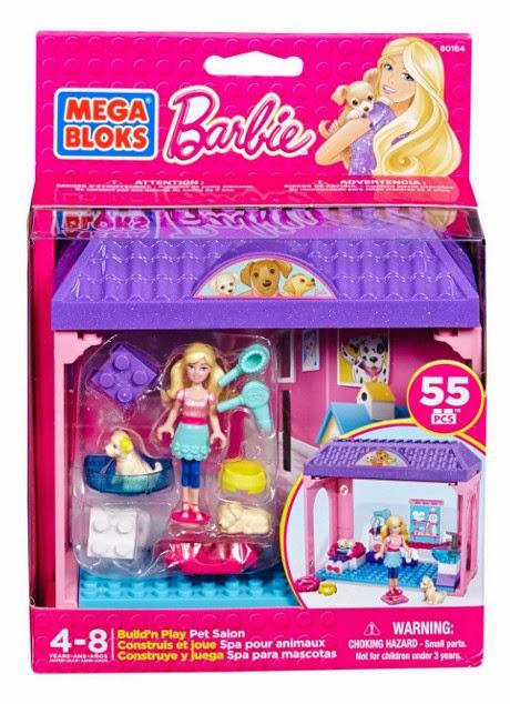 JUGUETES - MEGA BLOKS Barbie  80164 Spa para mascotas | Salón de Belleza  Producto Oficial | Piezas: 55 | Edad: 4-8 años