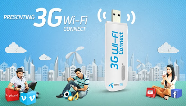 Telenor 3G dongle 60 GB free internet offer details