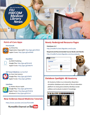 HWCOM Medical Library Newsletter - Spring 2015