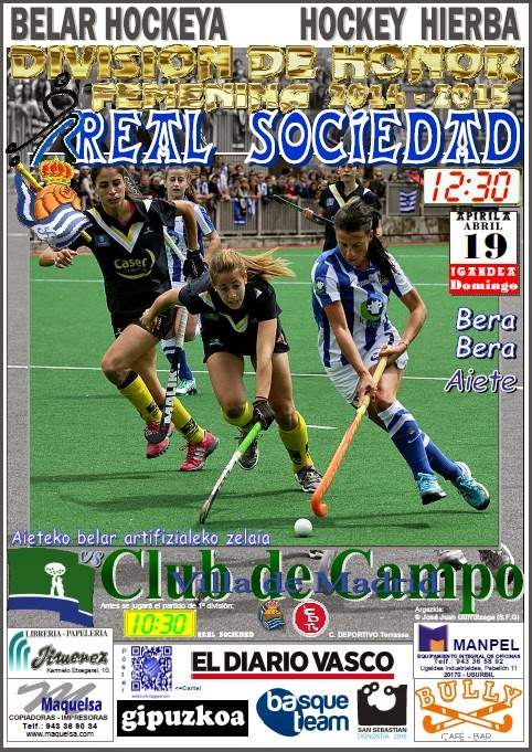 Cartel hockey 2015-04-19 Real Sociedad - Club de Campo