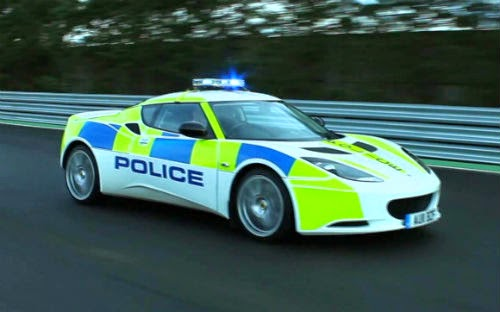 image of England police car