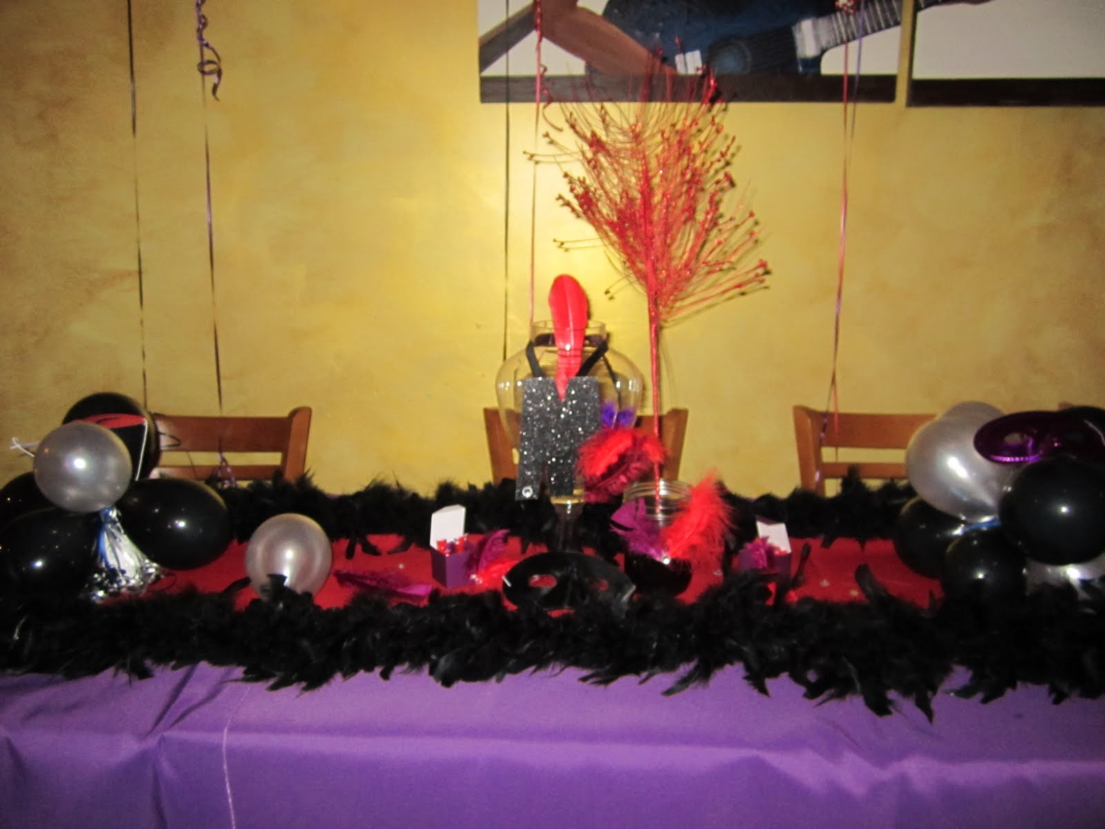 Burlesque Party Decorations http://partywithak.blogspot.com/2012/01/how-to-decorate-birthday-dinner-red.html