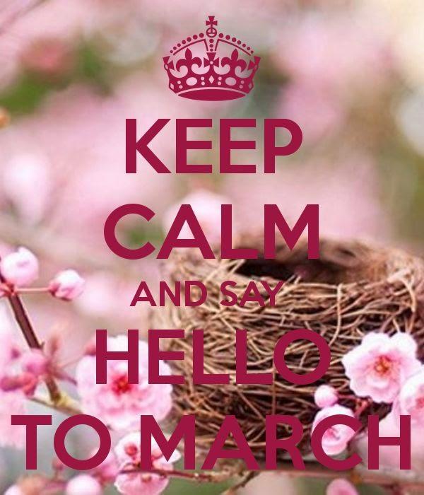 dar la bienvenida al mes de marzo
