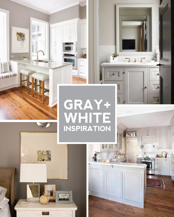 gray + white paint inspiration.