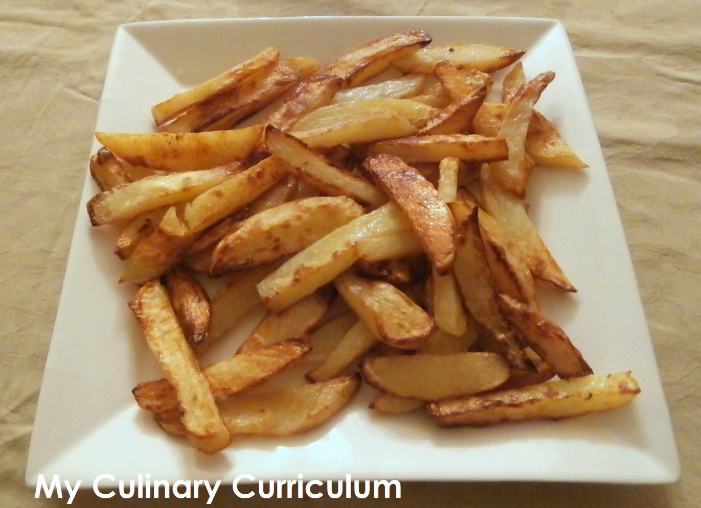 My culinary curriculum frites au four maison homemade chips - Frite friteuse au four ...