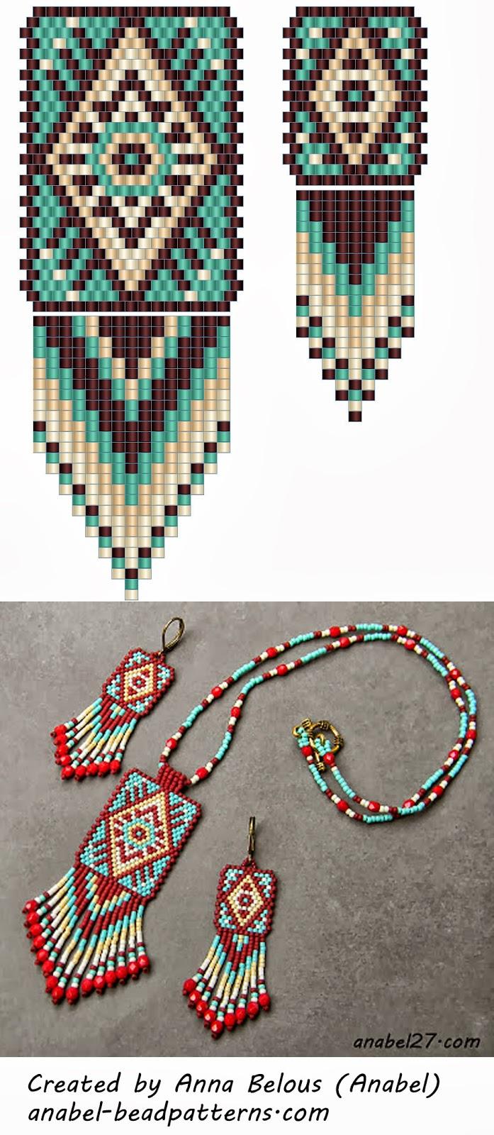 кирпичное плетение схема серьги