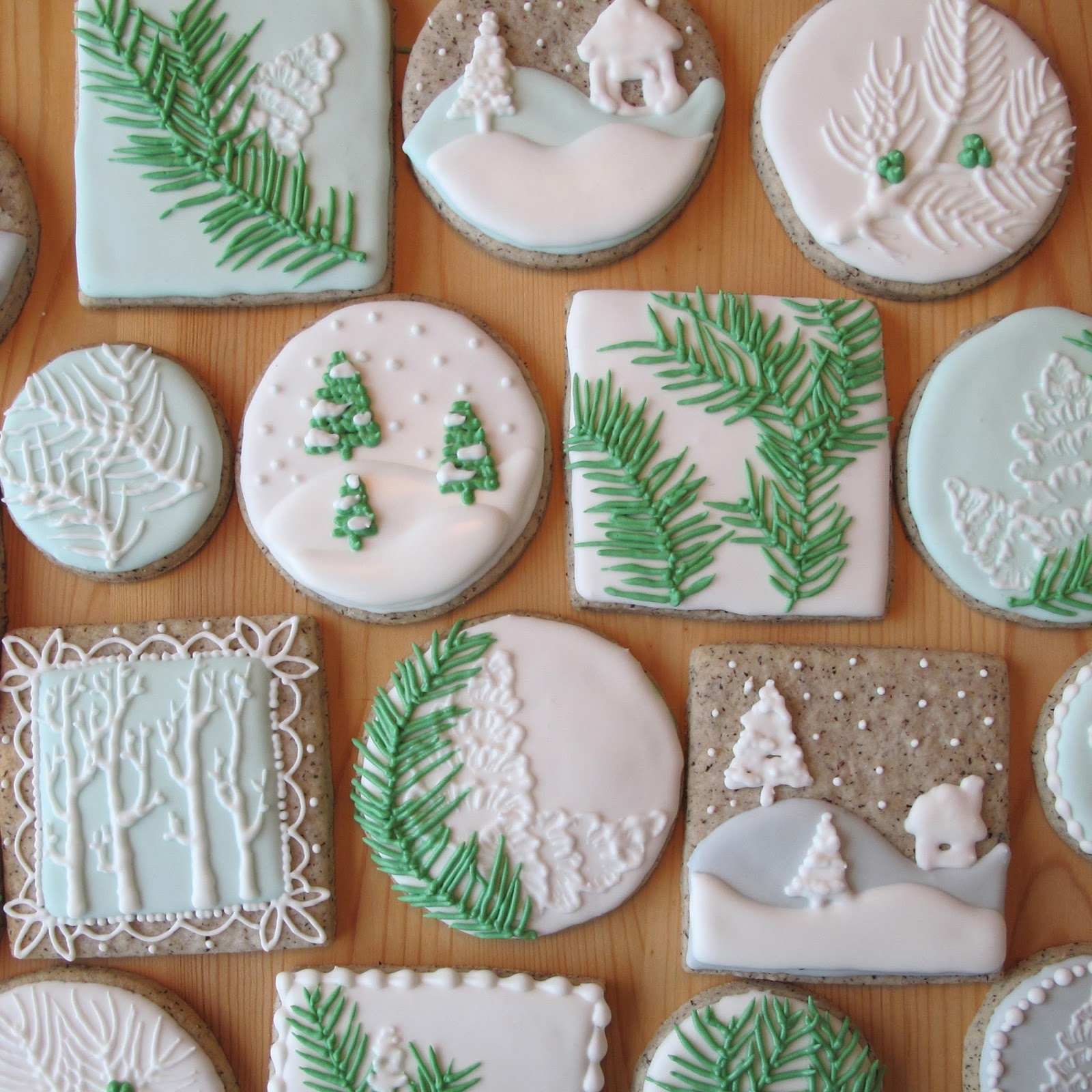 sometimes you need to make christmas cookies but you dont want them to be too christmasy so here are some ideas for when winter is here but christmas is - How To Decorate Christmas Cookies With Royal Icing