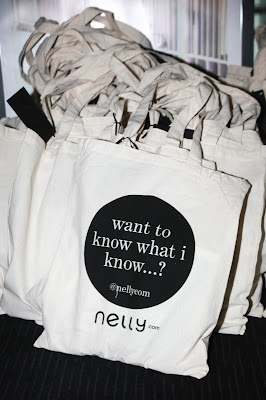 Nelly fashion event tote bags