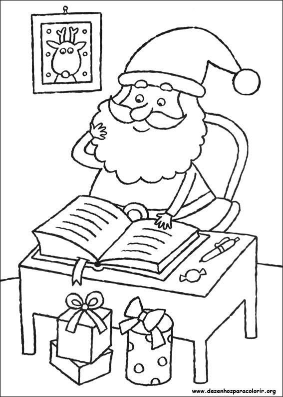 Desenhos Para Colorir História do Papai Noel  para copiar
