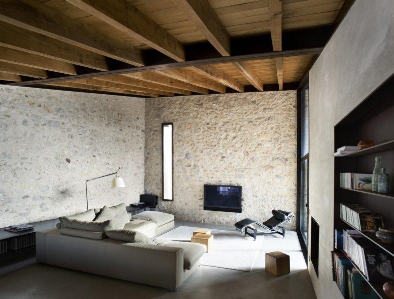 Soffitti In Legno Moderni : Scaffale pavimento soffitto moderno in legno in vetro