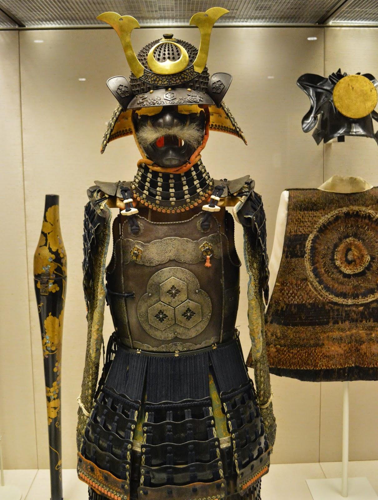 samurai armour, mask with a moustache, Japanese, British Museum, photograph