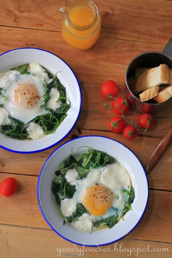 recipe: baked egg florentine (gordon ramsay)