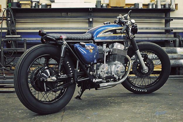 Honda CB750 Cafe Racer title=