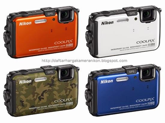 Harga dan Spesifikasi Kamera Nikon Coolpix AW100
