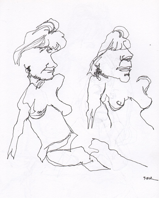 Contour Line Drawing Figure : Tattooed sky contour drawings