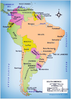 printable political map south america