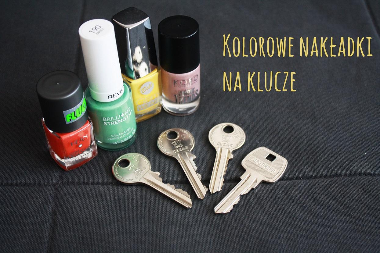 nakładki do kluczy, diy, klucze, lakier do paznokci