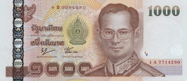 Voyager en Thaïlande - Informations pratiques - Billet de 1000 baht