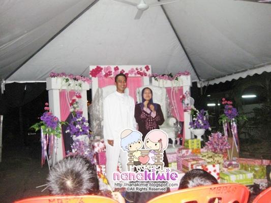 pengantin memberi ucapan dan penghargaan buat semua family sedara mara