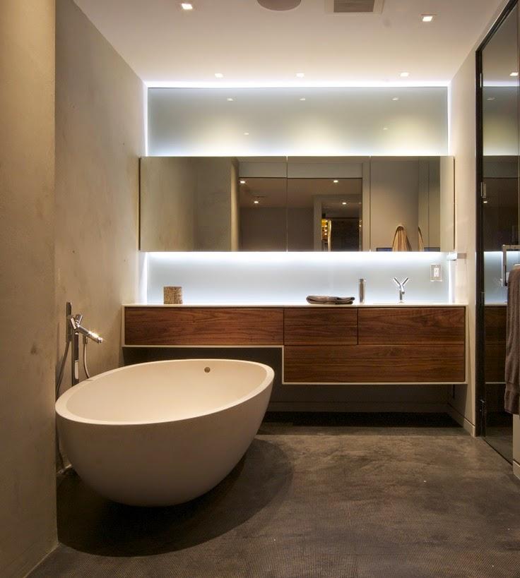 Iluminacion Indirecta Baños:opción es optar por combinar ambos tipos de luz, directa e indirecta