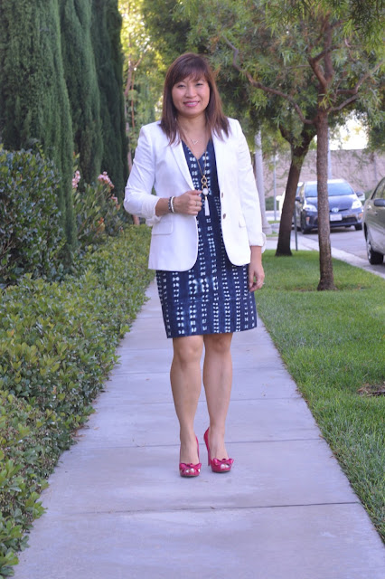 office style, work wear, fashion over 40, OC Blogger, J Crew Thompson Blazer in Bi-stretch cotton