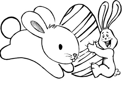 Desenho de coelho para colorir. Páscoa