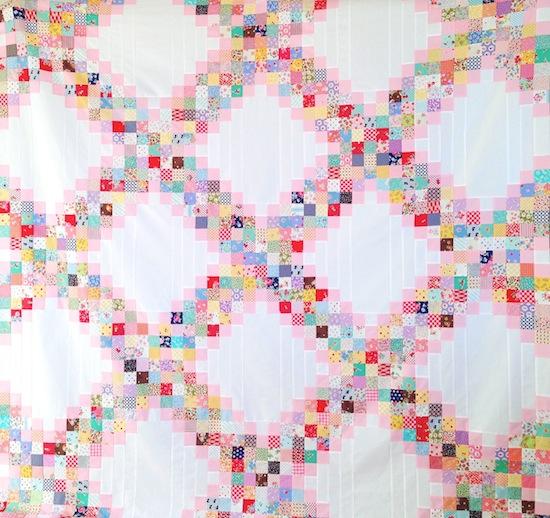 Irish Double Chain Quilt Pattern Free : MessyJesse - a quilt blog by Jessie Fincham: Scrappy Irish Chain Quilt Pattern