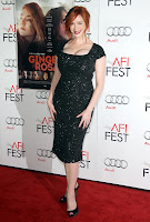 Christina Hendricks strikes a pose on the red carpet