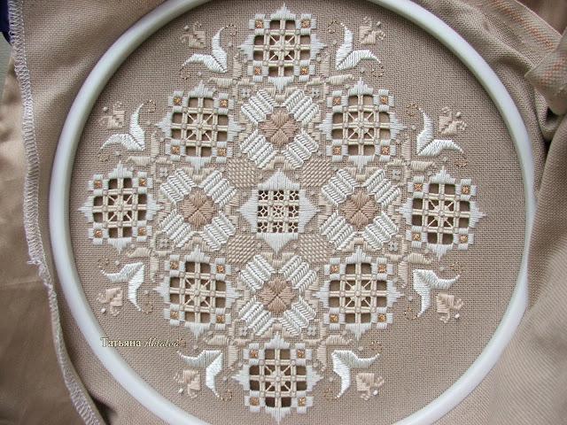 Вышивка элегантные тыквы