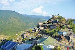 Konhoma with solar lights..The village is 20kms southwest of Kohima , the capital of Nagaland