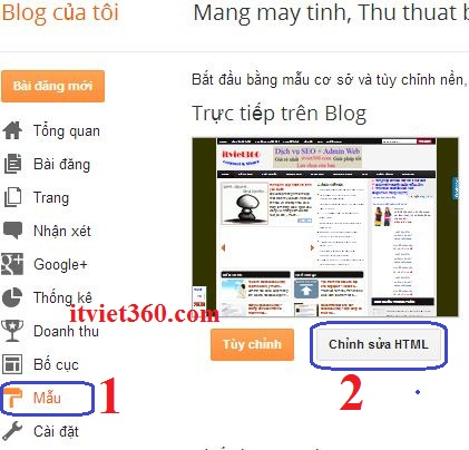 thay giao dien cho blogger