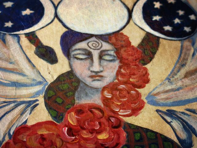 Galia Alena Of the Heart Moon Goddess mixed media journal