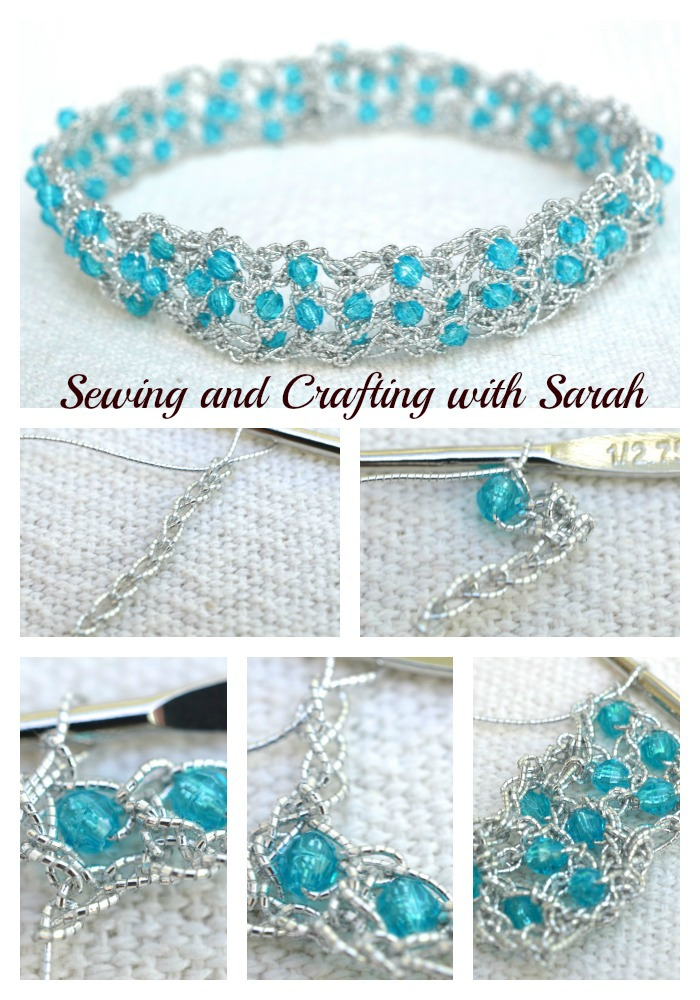 Sewing and Crafting with Sarah: Beaded Stretchy Headband Tutorial