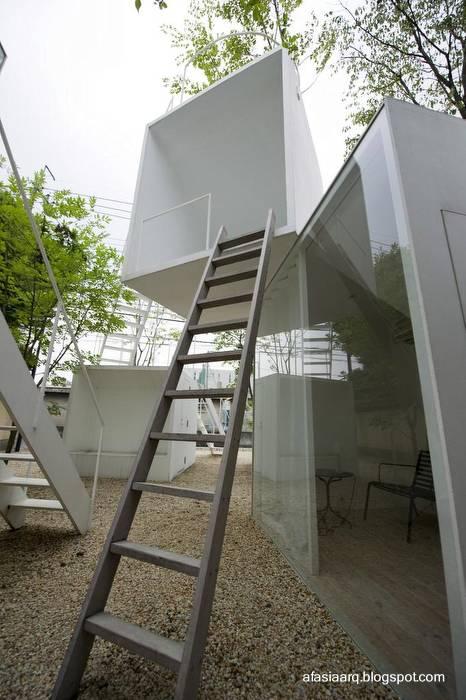 Arquitectura de casas una vivienda de dise o conceptual - Escalera japonesa ...