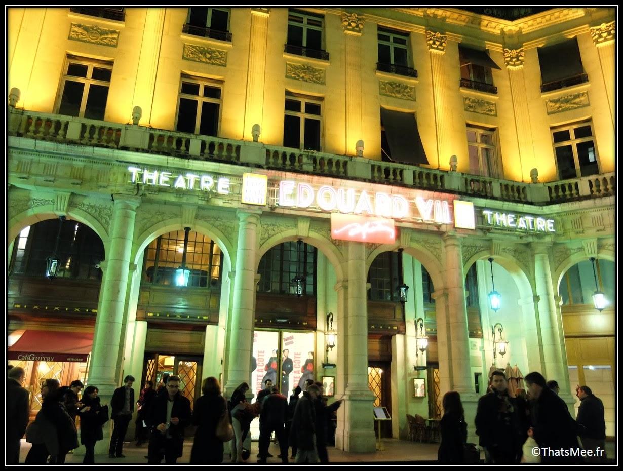La porte à côté Edouard Baer Emmanuelle Devos théatre Edouard 7 Paris comédie humour ironie textes Fabrice Roger Lacan mise en scène Bernard Murat