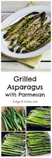 Grilled Asparagus with Parmesan [from KalynsKitchen.com]