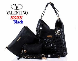 Tas KW Valentino Hobo Kancing Semi Premium 3023WC Jakarta