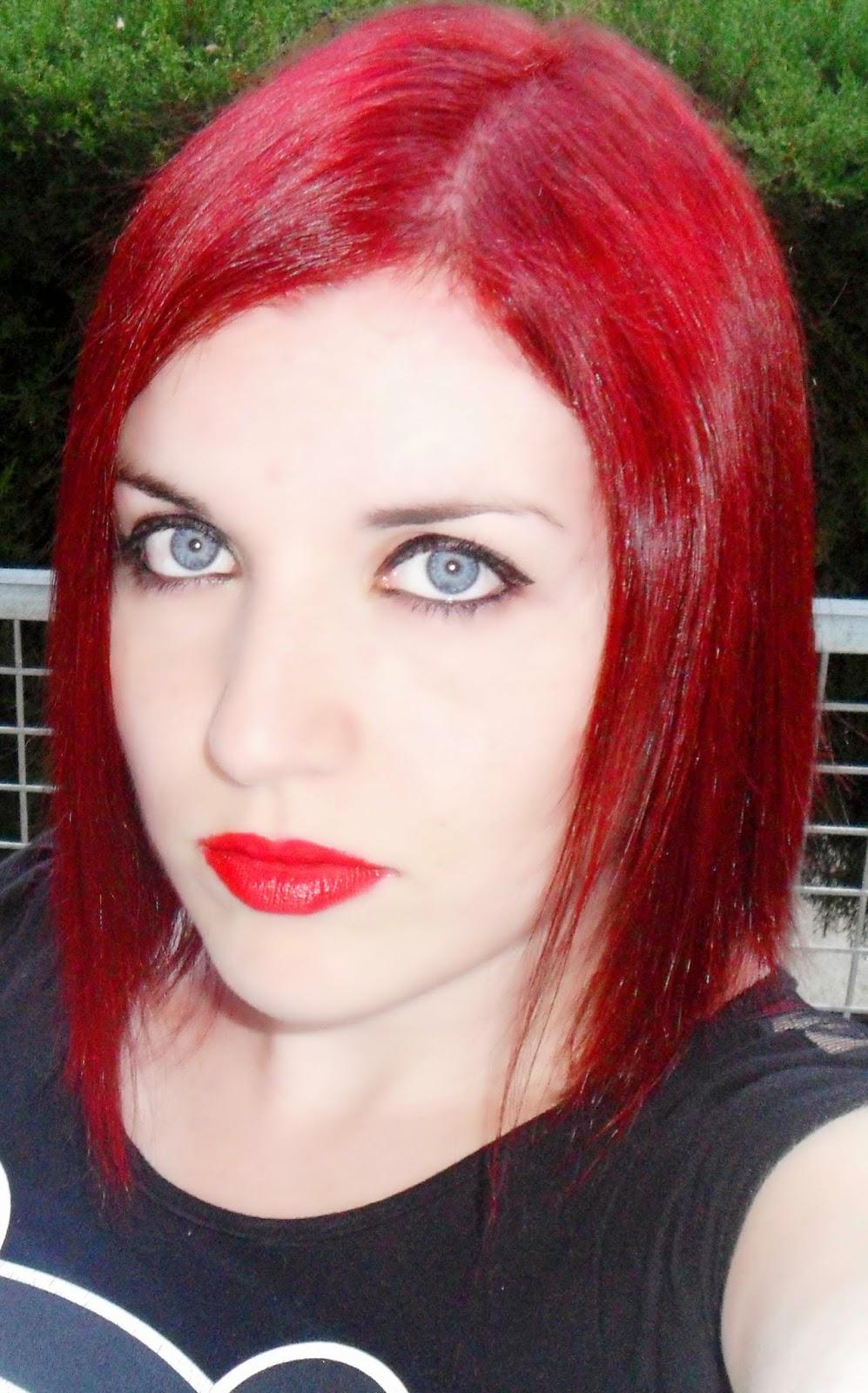 pelo long bob rojo