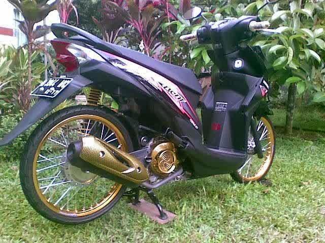 Foto Modifikasi Honda Beat Hitam Terbaru