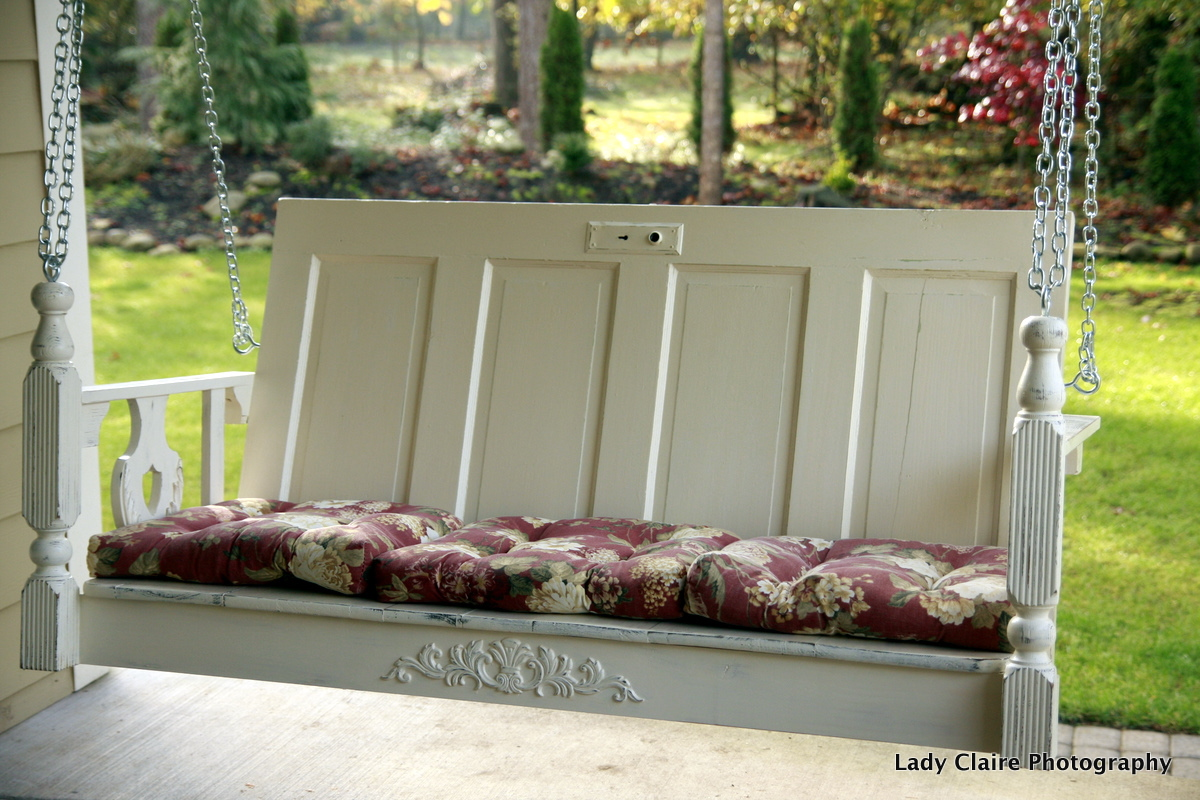 Huckleberry lane one of a kind porch swing for Old porch swing