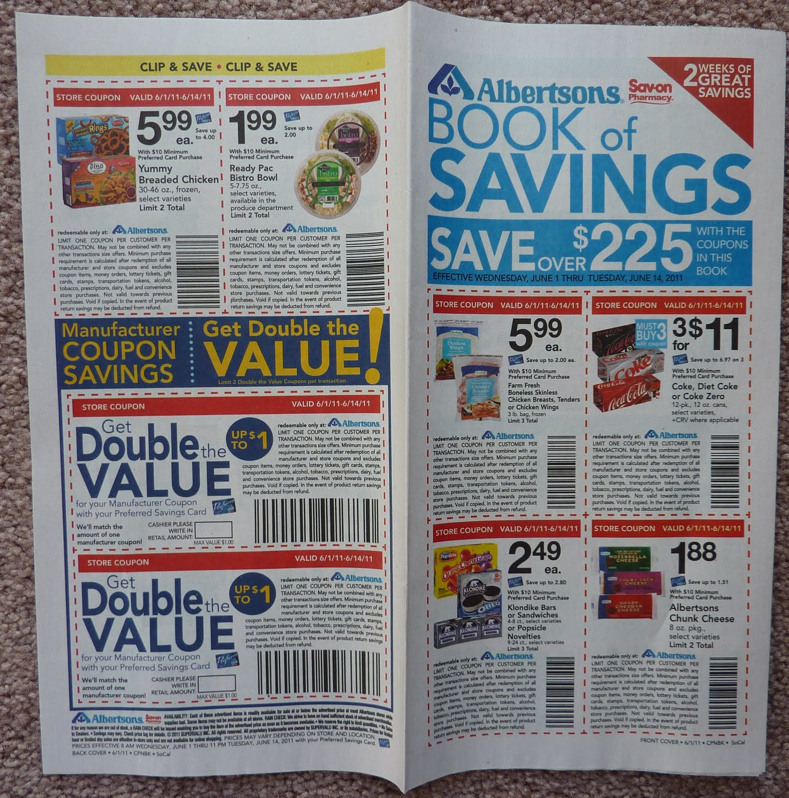 Manufacturer Coupons Mail >> Montebello Mom Mail Today Albertsons Double Coupons